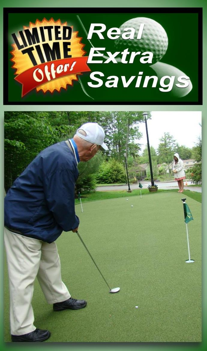 tour greens backyard putting green cost