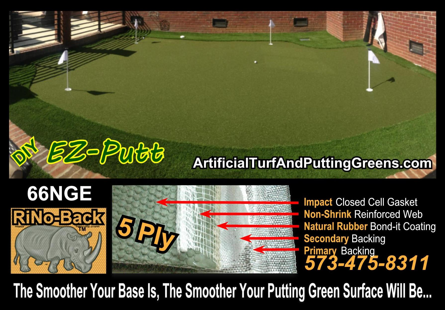 backyard putting green turf