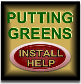 Putting green install help