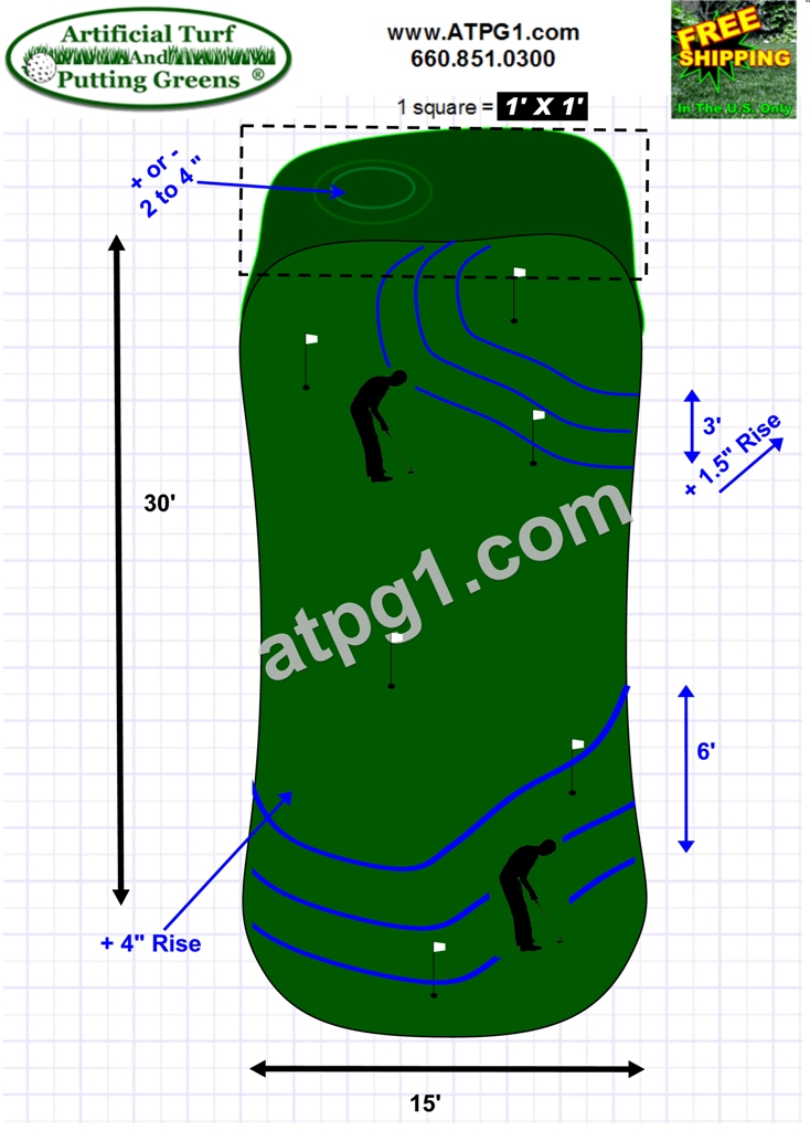 Wholesale putting green free putting green designs plans Green plans