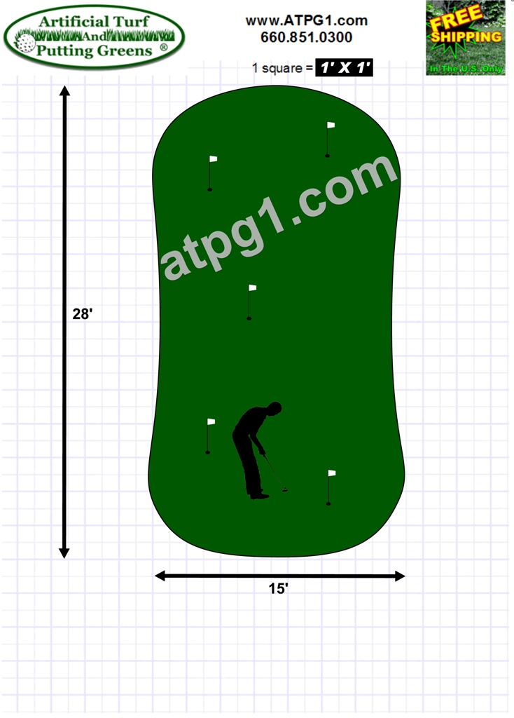 Putting greens free putting green designs plans for Green plans