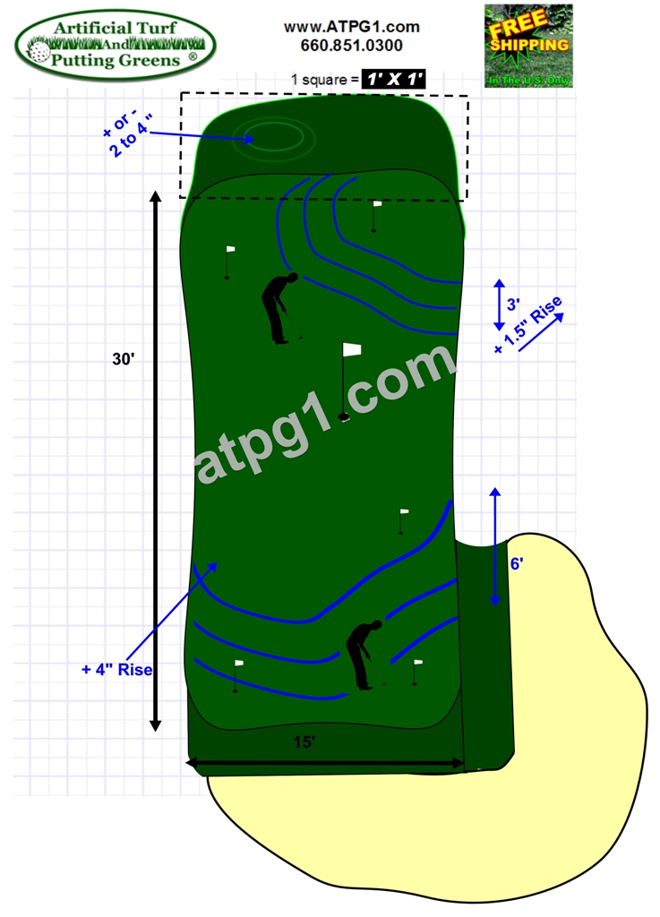 Wholesale putting greens free putting green designs plans Green plans